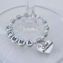 Chief Bridesmaid Wine Glass Charms